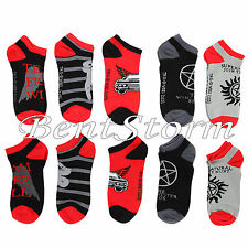 Supernatural Anti-Posession LOGO 5 Pair Ladies No Show Ankle Socks Mix & Match