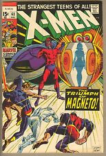 X-men #63 Dec 1969 FN/VF (7.0), Kazar, Magneto, Neal Adams cover and art