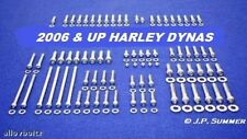 2006-2017 HARLEY DAVIDSON DYNA POLISHED STAINLESS ENGINE/ TRANS BOLT SET KIT