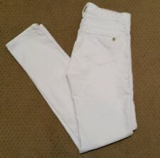 """Kate Spade Womens Jeans Perry Street Skinny crop White Sz 24 Inseam 30.5"""" SD6"""