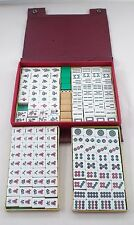 1950s 1960s Vintage Mah Jong Mahjong 2 Tone Tile Set in Orig Travel Carry Case