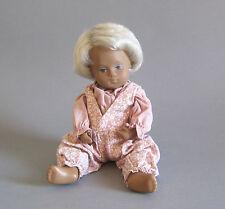 Sasha Morgenthaler Puppe mit Körbchen Baby Doll Blonde Hair wohl 70er Jahre