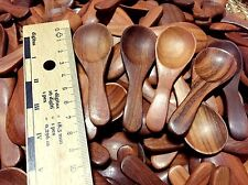 "3"" SET OF 20 NATURAL WOODEN SPOON COOKING UTENSIL KITCHEN COFFEE SMALL SPOONS"