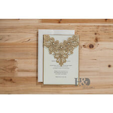 60 Wedding Invitation Cards with Envelopes, Seals, Custom Personalized Printing
