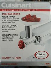Cuisinart SM-MG Meat Grinder Attachment for Stand Mixer 3 Discs 2 Nozzles SM-MG