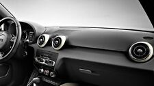 GENUINE AUDI A1 GLACIER WHITE 4 PIECE ACCESSORY DASHBOARD AIR VENT TRIM COVERS