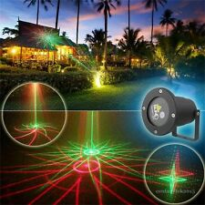 8 Patterns Laser Shower Light Outdoor Landscape Spotlights Projector Waterproof