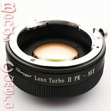 Zhongyi Focal Reducer Booster Lens Turbo II Pentax K PK to Sony E Adapter NEX-7
