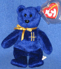 TY OMNIA the BEAR KEYCLIP BEANIE BABY - HARRODS EXCLUSIVE - MINT with MINT TAG