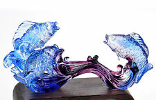 Crystal Glass Liuli Glaze Fish Animial Carp Playing Water Chirstmas Home Decor