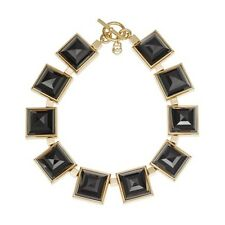 MICHAEL KORS GOLD PLATED LARGE BLACK PYRAMID NECKLACE - MKJ2899710