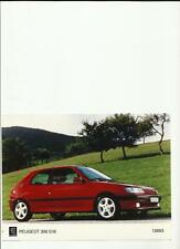 "PEUGEOT 306 S16 ORIGINAL PRESS PHOTO  ""SALES BROCHURE"""