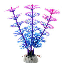 Artificial Plastic Grass Water Plant Aquarium Fish Tank Decoration CX01 Purple