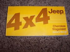 1986 Jeep Cherokee Wagoneer Owner Owner's User Guide Operator Manual 2.5L 4Cyl
