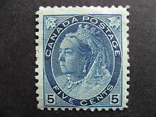 CANADA Sc 79 5c QV mint but it has adhesions/disturbed gum, see pictures