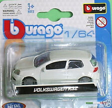 Burago Volkswagen Golf R32 White - 1/64 scale die cast model