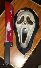 SCREAM GHOST FACE BLEEDING MASK & MACHETTE COMBO HALLOWEEN SURPLUS STORE ITEM