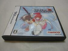 USED Nintendo DS Tales of the Tempest. Japanese Version. 7-14 Days to USA.