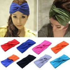 Women Turban Twist Head Knot Headband Wrap Twisted Knotted Hair Band Red
