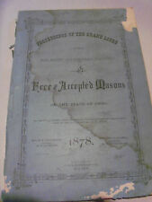 1878 Proceedings of the Grand Lodge of Free and Accepted Masons of Ohio