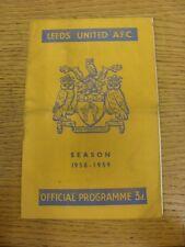 21/05/1959 Leeds United v Manchester City  (Slight sellotape repair inside, fold