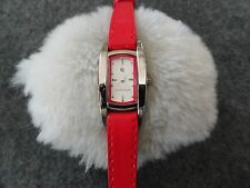 New Chete & Laroche Quartz Ladies Watch with a Red Leather Band