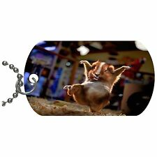 Karate Guinea Pig  Metal Necklace Pendant Dog Tag