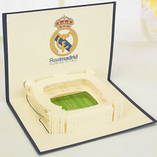 3D Pop Up Card Real Madrid Football Field Birthday Valentine Easter Thank You