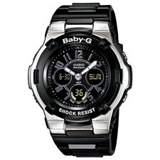 Casio Baby-G BGA110-1B2 Shock Resistant Black Multi-Function Ladies Sport Watch