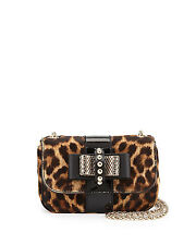Christian Louboutin Sweet Charity Dyed Calf Hair Small Shoulder Bag $1395