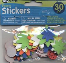 30 Piece Foam Ladybugs and Flowers Stickers