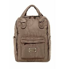 NEW Marc By Marc Jacobs Quilted Pretty Nylon Knapsack Quartz Grey/Taupe $198