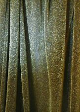 "Shiny Glitter Look MESH Stretch Dance Fabric Net Material 60""  GOLD"