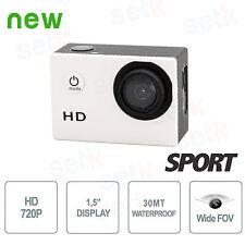 ACTION CAM HD 720P MINI DV 30MT TELECAMERA SPORTIVA SUBAQUEA CON MONITOR LCD 1.5