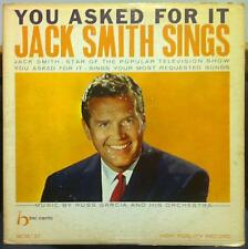 JACK SMITH sings you asked for it LP VG+ BCM-37 Vinyl 1959 Bel Canto Record