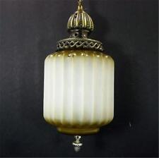 Hollywood Regency White Amber Swag Light Hanging Ceiling Lamp