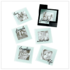 Memorable Glass Photo Coasters  Clear