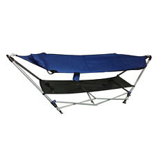 Comfortable Portable Folding Porch Camping Hammock Lounge Bed Cot with Stand
