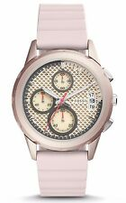 Fossil Women's Modern Pursuit Sport Chronograph Blush Silicone Watch ES4172