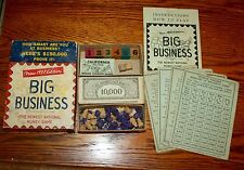 Vintage  BIG BUSINESS New 1937 Edition National Money Game All parts no board