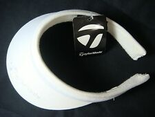NEW WITH TAGS TAYLOR MADE LADIES SPLIT CLIP WHITE GOLF VISOR
