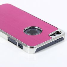 New Hot Pink Premium Aluminum Brushed Hard Case Cover For iPhone 5 5S SE