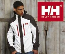 BOYS HELLY HANSEN BELFAST WATERPROOF JACKET - AGE 16 - WHITE/EBONY - HELLY TECH.