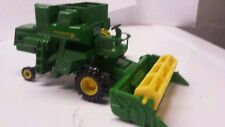 1/64 CUSTOM JOHN DEERE 95 OPEN STATION COMBINE WITH both heads ERTL farm toy