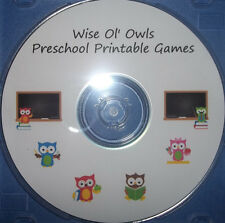 Owl themed printable classroom accessories and games.  Preschool and Elementary.