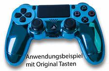 NEU Playstation PS4 Controller Case Hülle Gehäuse Modding Chrome Blau