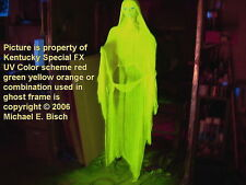Life Size Halloween Hanging Ghost Flying Crank Prop Decoration Reactive Glowing