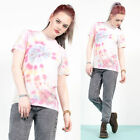 WOMENS VINTAGE 90'S TIE DYE T-SHIRT PASTEL COLOURED IBIZA GRUNGE FESTIVAL 8 10