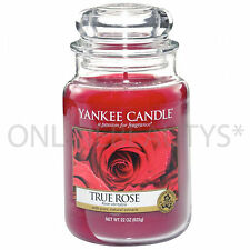 YANKEE CANDLE TRUE ROSE EXCLUSIVE LARGE 22 Oz JAR Scented Candle