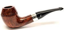 Peterson Sherlock Holmes Deerstalker Smooth Silver Mounted Pipe takes 9mm Filter